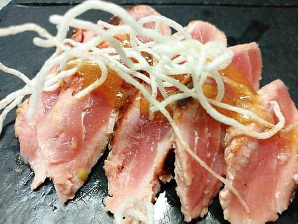 Tagliata de atún fresco